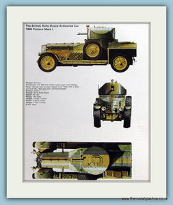 British Rolls-Royce Armoured Car 1920 Pattern Mark I Print (ref PR480)