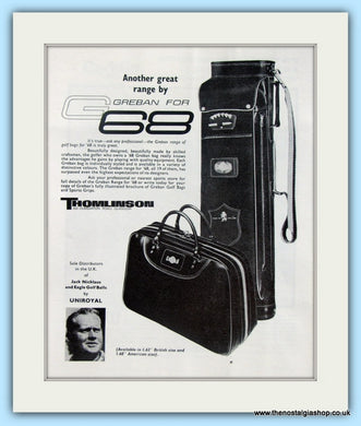 Greban Golf Bags. Original Advert 1968 (ref AD4969)