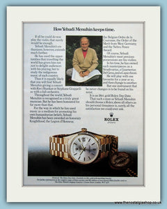 Rolex Watches. Original Advert 1970's (ref AD6110)