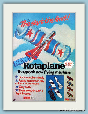 Rotaplane Model Original Advert 1978 (ref AD6450)