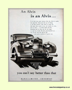 Alvis Original Advert 1953 (ref AD6636)
