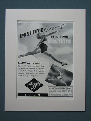 Agfa Film 1938 Original advert (ref AD843)