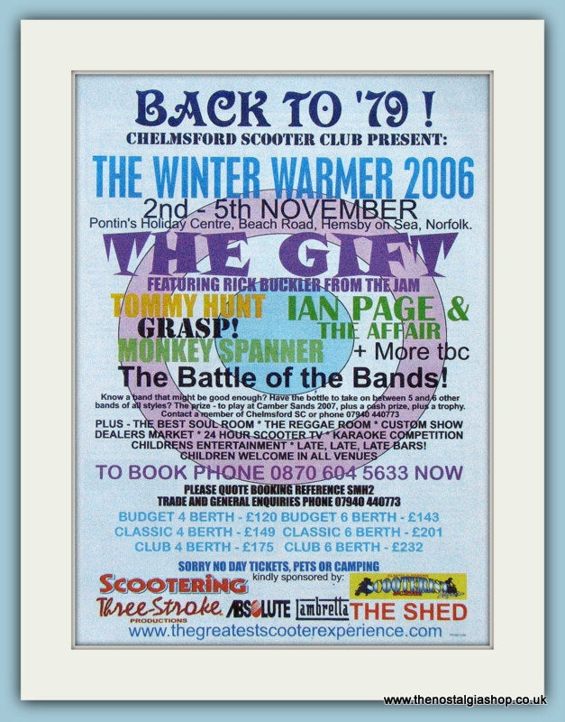 Chelmsford Scooter Club, Winter Warmer 2006 Event Advert (ref AD4102)