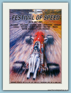 Goodwood Festival Of Speed 2001. Orginal Advert (ref AD2042)