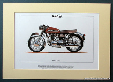 Norton Atlas Mounted Motorcycle Print (ref PR3029)