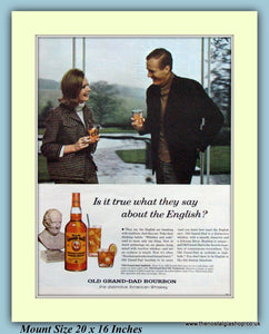 Old Grand-Dad Bourbon Whisky Original Advert 1966 (ref AD9350)