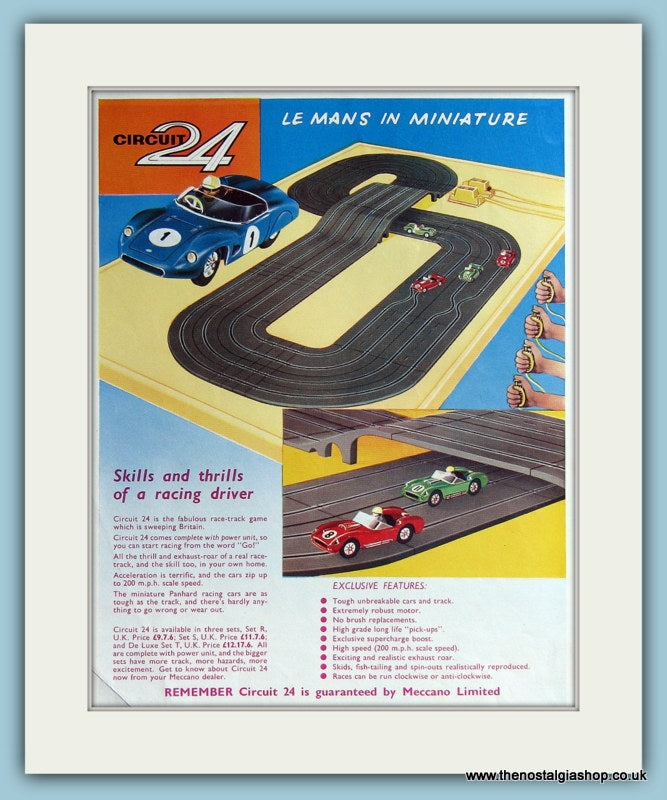 Circuit 24 Race Game. 2 x 1962 Original Adverts (ref AD2818)
