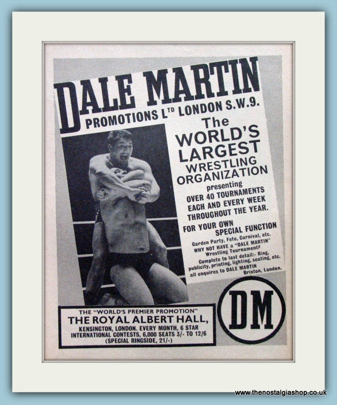 Dale Martin Promotions. Original Advert 1965 (ref AD5040)