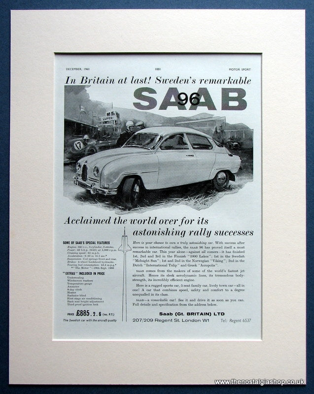 Saab 1960 Original Advert (ref AD1497)