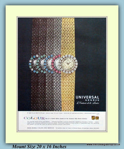 Universal Geneve Colour Watches Original Advert 1961 (ref AD9385)