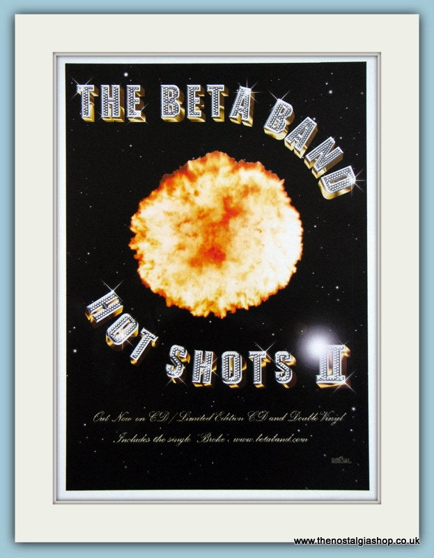 The Beta Band - Hot Shots II 2001 Original Advert (ref AD3296)