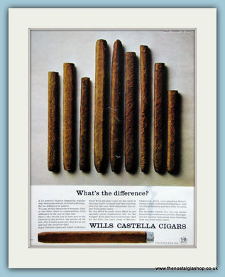 Wills Castella Cigars Set Of 2 Original Adverts 1964 & 1965 (ref AD6086)