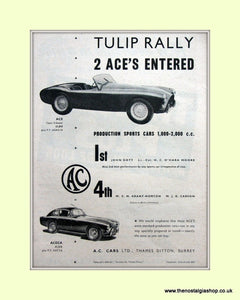 AC Cars in Tulip Rally, 1955 Original Advert (ref AD6608)
