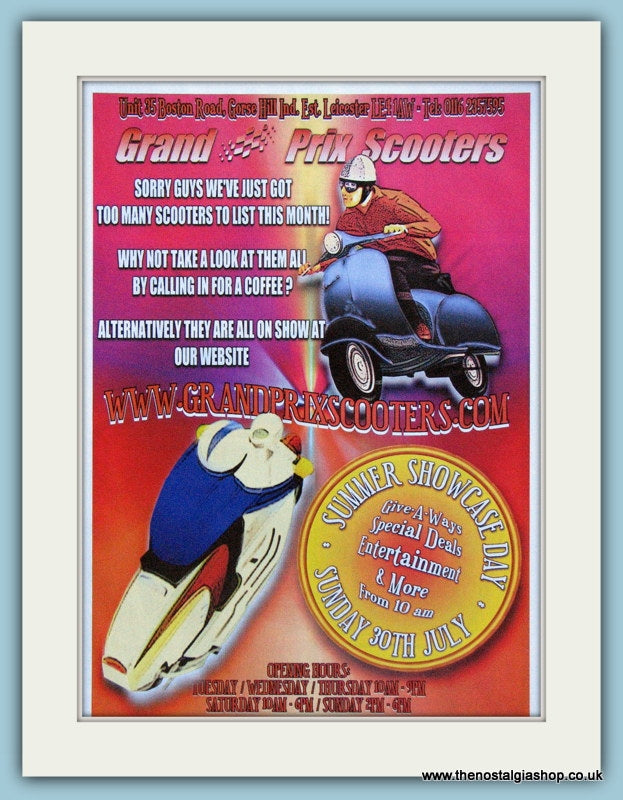 Grand Prix Scooters, Summer Showcase Day 2006 Event Advert (ref AD4099)