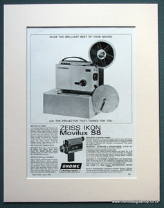 Zeiss Ikon Movilux S8 1968 Original Advert (ref AD1072)
