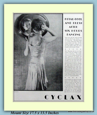 Cyclax Face Creams Original Advert 1927 (ref AD9245)