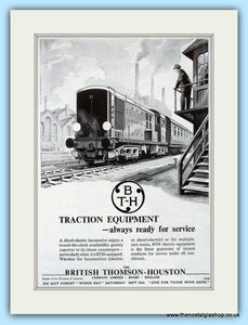 British Thomson-Houston Traction Equipment Original Advert 1951 (ref AD6479)