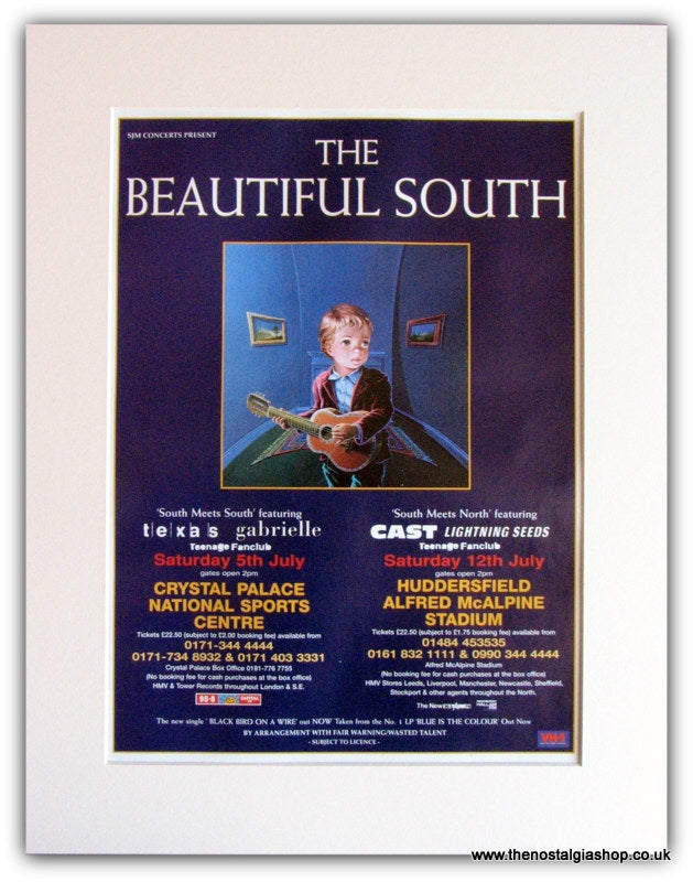The Beautiful South Tour Advert 2007 (ref AD1804)
