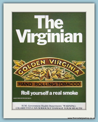 Golden Virginia Hand Rolling Tobacco Original Advert 1980 (ref AD6027)