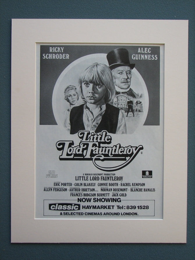 Little Lord Fauntleroy 1981 Original advert (ref AD688)