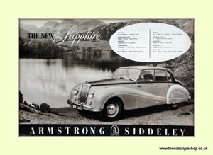 Armstrong Siddeley Sapphire Original Advert 1952 (ref AD6668)