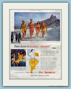 Pan American Airline Original Advert 1953 (ref AD8246)