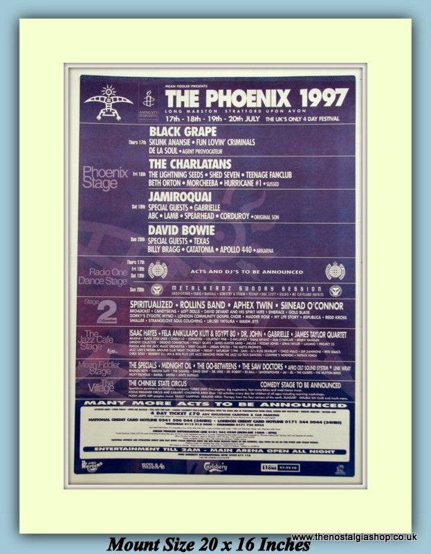 The Phoenix Festival 1997 Original Advert (ref AD9008)
