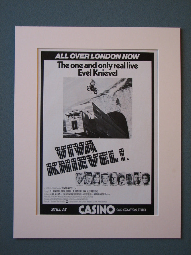 Viva Knievel 1978 Original advert (ref AD454)