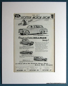 Hillman Minx 1953 Original Advert (ref AD1708)