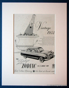 Ford Zephyr Zodiac. Original advert 1954 (ref AD1123)