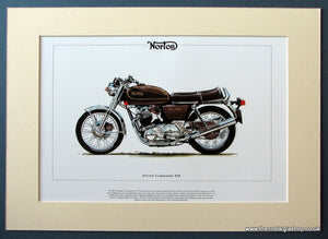 Norton Commando 850 Mounted Motorcycle Print (ref PR3043)