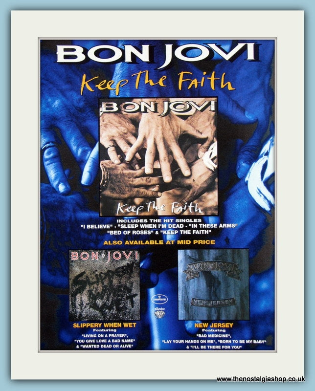 Bon Jovi Keep The Faith 1993 Original Advert (ref AD3265)