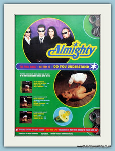The Almighty, Do You Understand 1996 Original Advert (ref AD3149)
