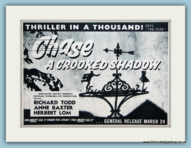 Chase A Crooked Shadow, 1958 Original Advert (ref AD3193)