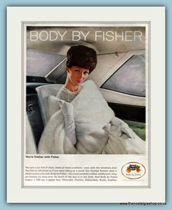 Body by Fisher. G.M. Set of 4 Original Adverts 1960s (ref AD8285)