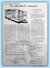 Load image into Gallery viewer, The Beverley Debonair Original Test Report 1956 (ref AD6371)