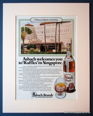 Asbach Brandy. Original advert 1980 (ref AD1163)