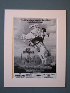The Legend Of The Lone Ranger (ref AD469) Original Advert 1981