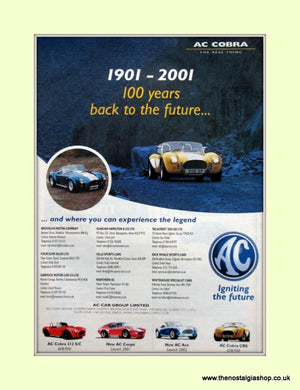 AC Cobra 1901 - 2001 Original Advert (ref AD6615)