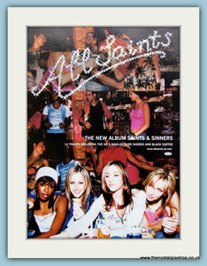 All Saints Saints And Sinners 2000 Original Advert (ref AD3162)