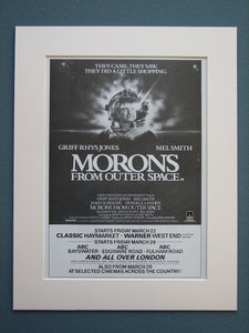 Morons From Outer Space 1985 Original advert (ref AD698)