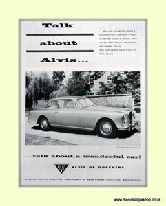 Alvis Three Litre & Coupe. Set of 3 Original Adverts 1958/62 (ref AD6643)