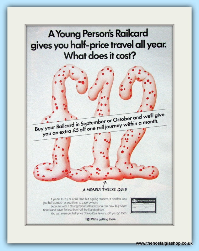 Young Persons Railcard Original Advert 1985 (ref AD6561)
