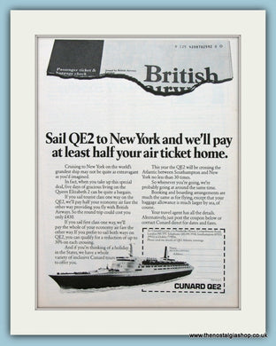 Cunard QE2 Cruise Ship Set Of 2 Original Adverts 1979 (ref AD2312)