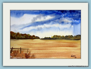 Sawdon Yorkshire Wolds. Original Watercolour by Brian Brogan