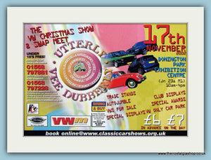Utterly Vee Dubberly. VW Xmas Show Donnington 2002. Original Advert (ref AD2054)