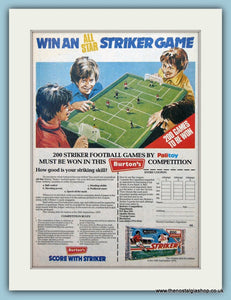 Striker Football Game Palitoy Original Advert 1979 (ref AD6460)