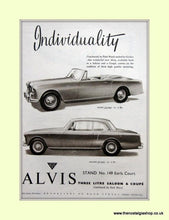 Load image into Gallery viewer, Alvis Three Litre & Coupe. Set of 3 Original Adverts 1958/62 (ref AD6643)