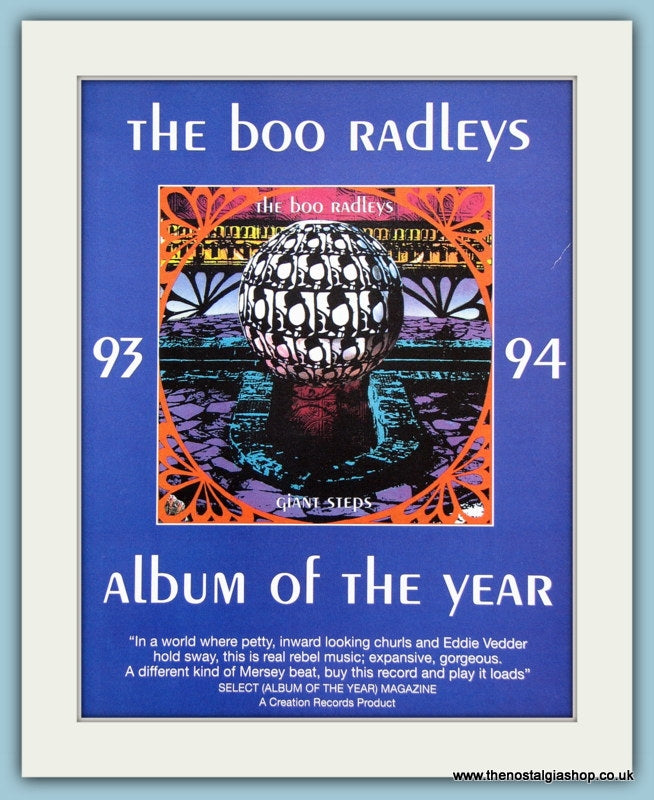 The Boo Radleys Giant Steps 1993 Original Advert (ref AD3297)