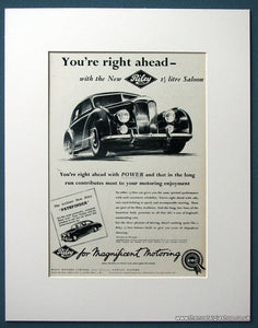 Riley 1.5 Litre Saloon Set Of 2 Original Adverts 1954 (ref AD1211)